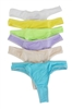 Lingerie V Shape Back Lycra Bikini G-String Thong Panties Underwear, 6 pieces