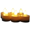 EcoGecko Set of 6 Indoor/Outdoor Flameless LED Tealight Candles with 4 or 8 hour timer