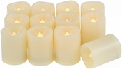 EcoGecko Indoor/Outdoor Set of 12 Flameless Votive Candles with 6 hour Timer, Batteries Included