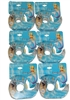 Braza Swim Companion Adhesive Double Sided Flash Tape 20 Foot Roll Dispenser, 6 Pack