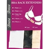 Braza Washable Fine Tuning 100% Soft Brushed Nylon 3PC Bra Back Extenders Pack