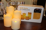 Candle Choice Set of 4 Indoor/Outdoor Flameless LED Pillar Candles with 4 & 8 Hour Timer Option