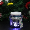Candle Choice Living Jar, Indoor Outdoor Battery-operated Jar Light with Remote and Timer, Snowman and House Design, Christmas and Holiday Decoration Lantern LED Light Candle