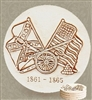 Set of 4 Stoneware Drink Coasters - Civil War