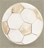 Set of 4 Stoneware Drink Coasters - Soccer Ball