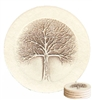 Set of 4 Stoneware Drink Coasters - Tree