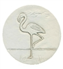 Set of 4 Stoneware Drink Coasters - Flamingo
