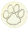 Set of 4 Stoneware Drink Coasters - Tiger Paw