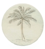 Set of 4 Stoneware Drink Coasters - Palm Tree