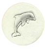 Set of 4 Stoneware Drink Coasters - Dolphin