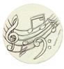 Set of 4 Stoneware Drink Coasters - Music