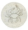 Set of 4 Stoneware Drink Coasters - Blue Crab