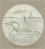 Set of 4 Stoneware Drink Coasters - Loon