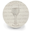 Set of 4 Stoneware Drink Coasters - Red Wine Glass