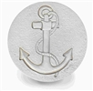 Set of 4 Stoneware Drink Coasters - Anchor