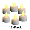 "12 Pack Candle Choice Flameless LED Battery Operated Tea Light Candles with Dual Timer Realistic Flickering Battery Powered Tealights 12-Pack Size-1.5""x1.5"" 400-hour Long Lasting Batteries Included"