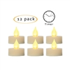 "Candle Choice Flameless LED Battery Tealight Candles with Timer Realistic Flickering Battery Operated Tea Light Candles Size-1.5""(D)x1.5""(H) with Drips Long Lasting Batteries Included 12-Pack"