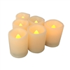 Candle Choice 6 PCS Premium Flameless Candles with Timer, LED Votive, Battery Powered Votives with Timer, Long Battery Life, Battery Life 200+ Hours