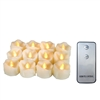 "Candle Choice 12-Pack Realistic Flameless Tealight Candles Bright Battery Operated LED Tea Lights with Remote 1.5""x1.5"" Drips Long Lasting Party Wedding Birthday Holiday Home Décor Centerpiece Gift"