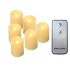 "Candle Choice 6 PCS Realistic Flickering Flameless Candle, Battery Operated Votives, Votive/tealight Candles with Remote, Long Battery Life, Batteries Included, 1.5""x2"" Melted Edge"