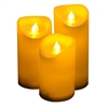 "Candle Choice 3 PCS Outdoor Flameless Candles with Timer, LED Pillar Candles with Timer, Weatherproof Battery Operated Candles, Long Battery Life 1500+ Hours, Size 3""x5"", 6"", and 7"""