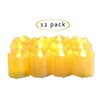 "Candle Choice 12 Piece Flameless LED Battery Votive Candles Realistic Flickering Battery Operated Powered Votives Bright Candles Size-1.5""(D)x2""(H) with Drips Long Lasting Batteries Included 12-Pack"