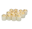 "Candle Choice 12-Pack Realistic Flameless Votive Candle Battery Operated LED Votives with Drips 1.5""x2"" Long Battery Life Festival Party Wedding Birthday Holiday Home Décor Centerpiece Gift"
