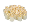 "Candle Choice 24 Piece Premium Realistic Flameless Votive Candles, Battery-operated Votive Candles, Long Battery Life 120+ Hours, 1.5""(D)2""(H), With Drips"