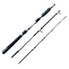 CarbonZeal 3-piece Carbon Fiber Portable Boat Fishing Rod Graphite Boat Rod, Saltwater Fishing Rod, Spinning Fishing Rod Fishing Pole
