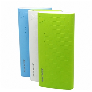 Bolan ultra-sleek 11000mAh Dual-Port USB 2.1A 1.0A Portable External Battery Charger for phone,pad
